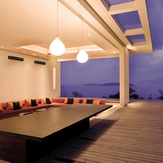 Herschel Aspect Black Far Infrared Indoor Space Heater Outdoor Installation