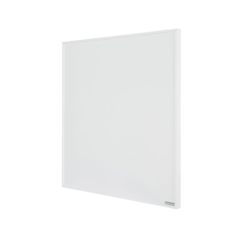 Herschel Select XL 600x600mm 300W White Frameless Far Infrared Panel Heater Left Angle