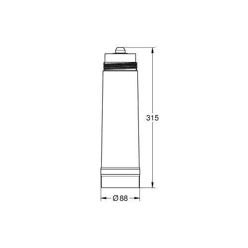 Grohe Blue Filter M-Size 1500 Litre 40430001 Dimensions