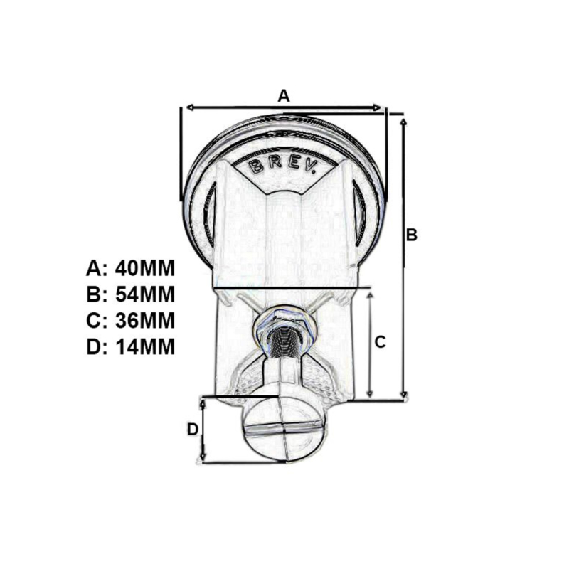 hansgrohe thumb plug dimensions
