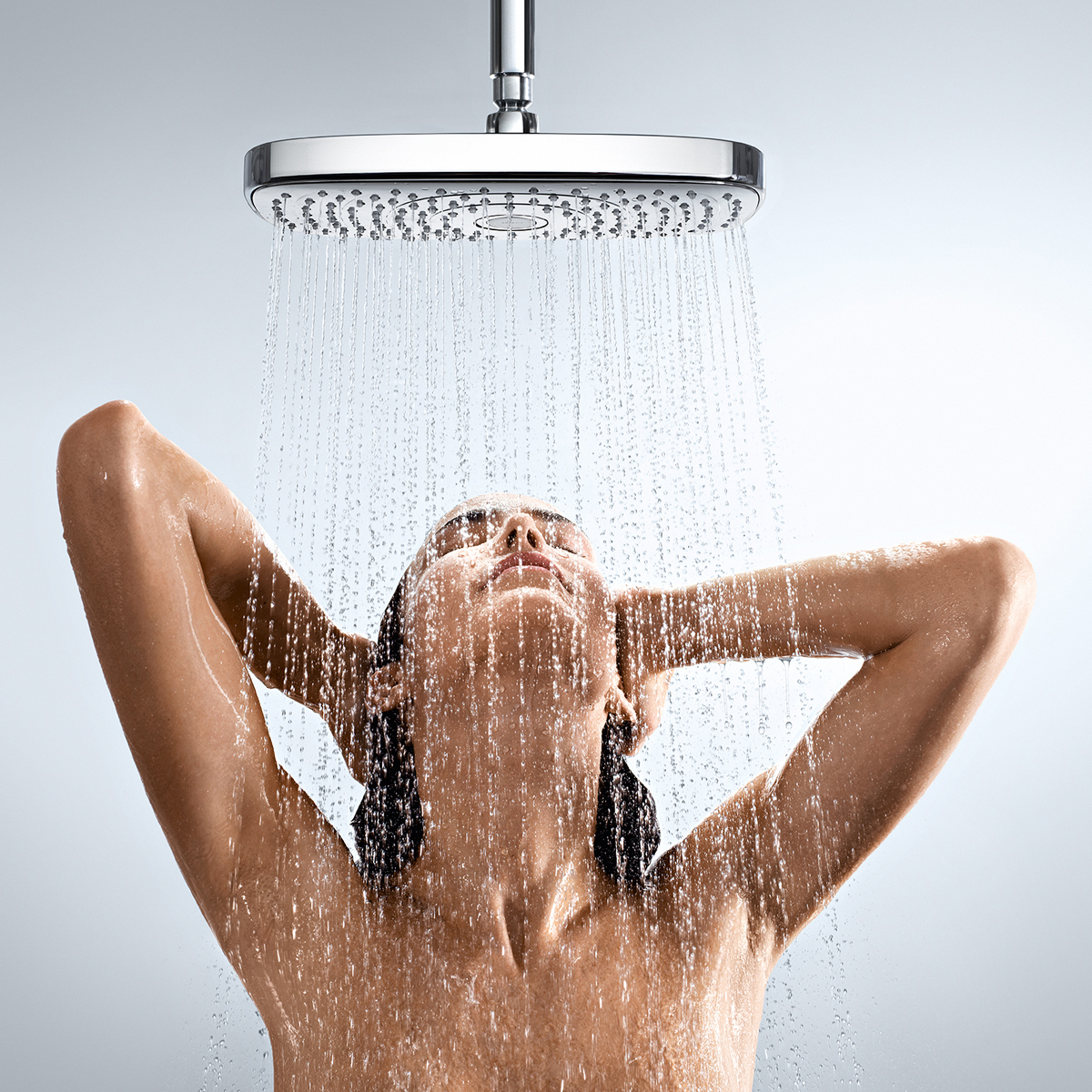 hansgrohe Select Rain Shower Head with Lady