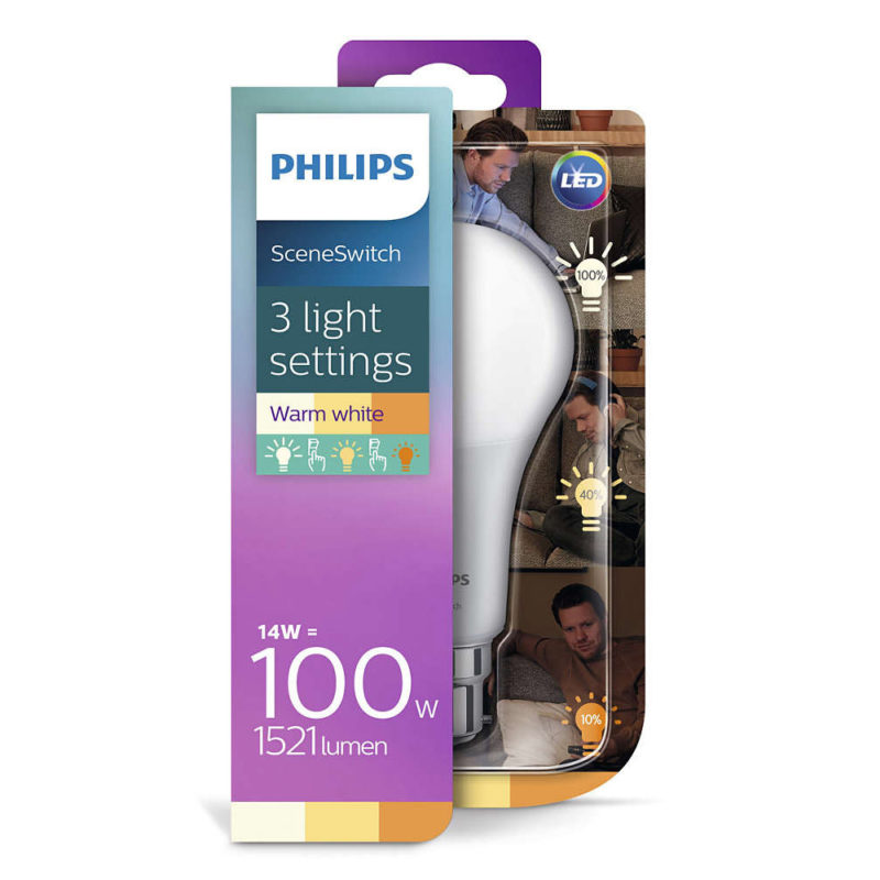 Philips SceneSwitch LED Bulb A67 929001336758 Packaging