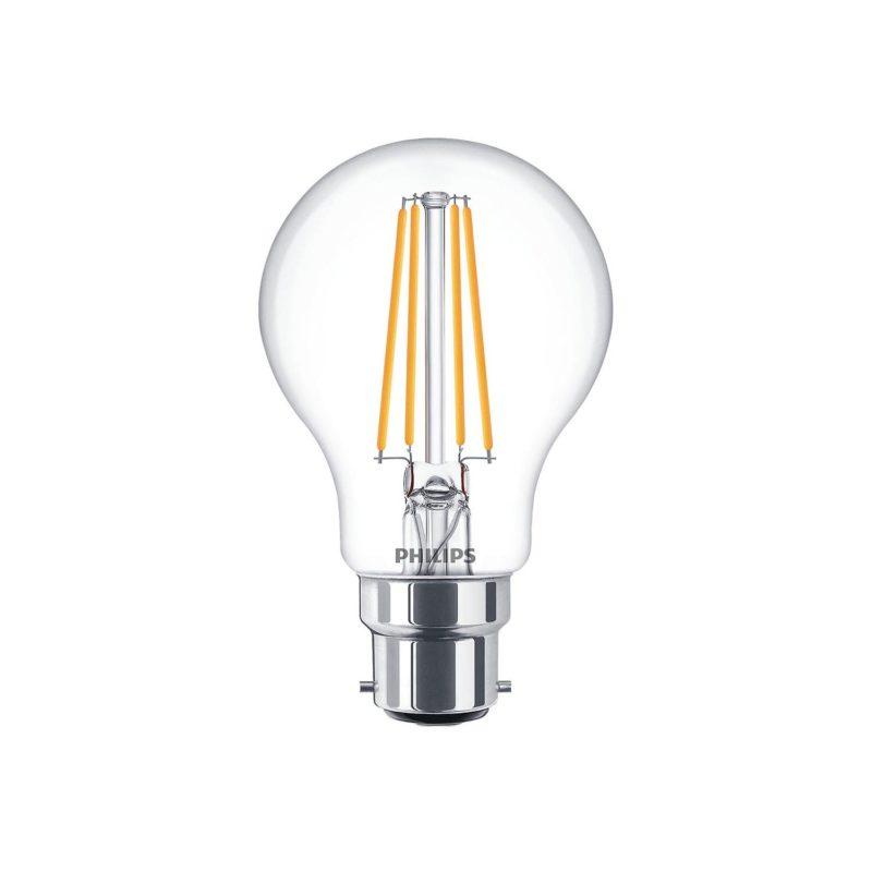 Philips LED Filament Bulb Clear A60 B22 - 929001331302 Main