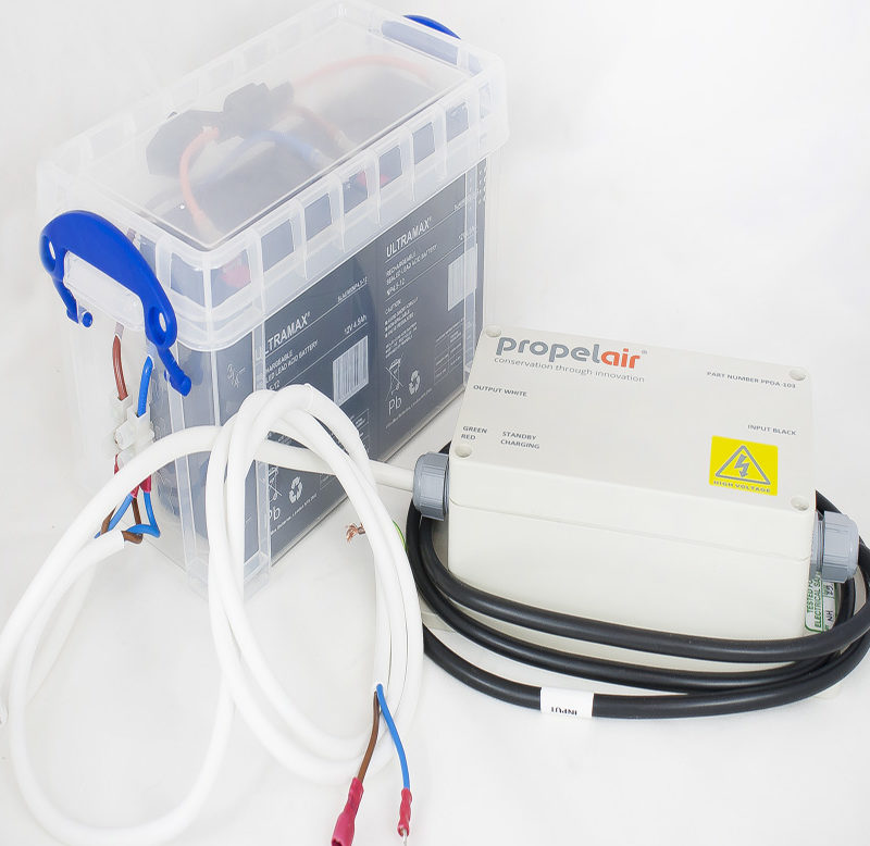 PPLR-200 Propelair Toilet Smart Charger Standard Battery Pack and Box