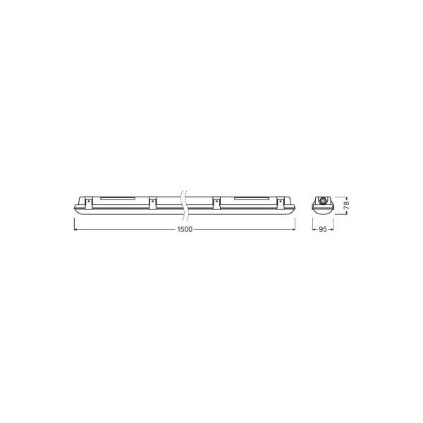 Ledvance Damp Proof LED Linear 30W-4058075079939-Dimensions