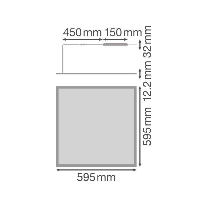 Ledvance Gen 2 LED Panel 36W - Dimensions