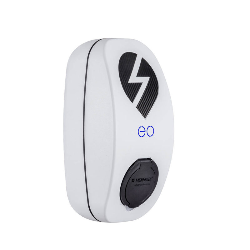 EO Genius EV Charger Type 2 White-Angle