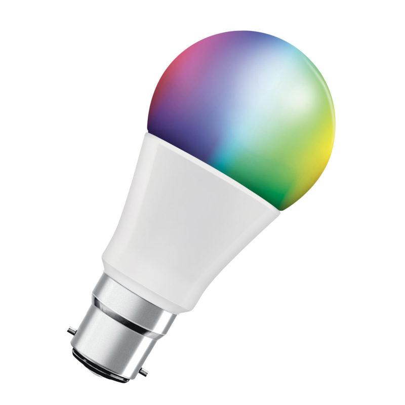 Ledvance Smart+ LED A60 Bulb B22 10W Multicolour RGBW Bluetooth - 4058075208476 - Main
