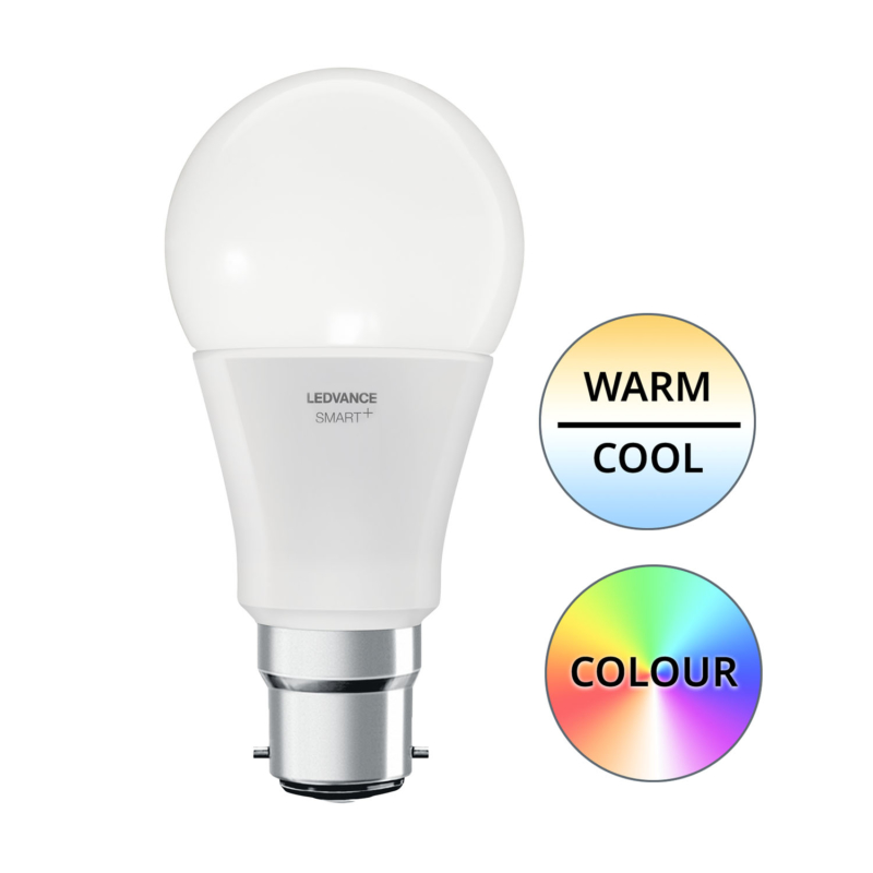 Ledvance Smart+ LED A60 Bulb B22 10W Multicolour RGBW - Main1