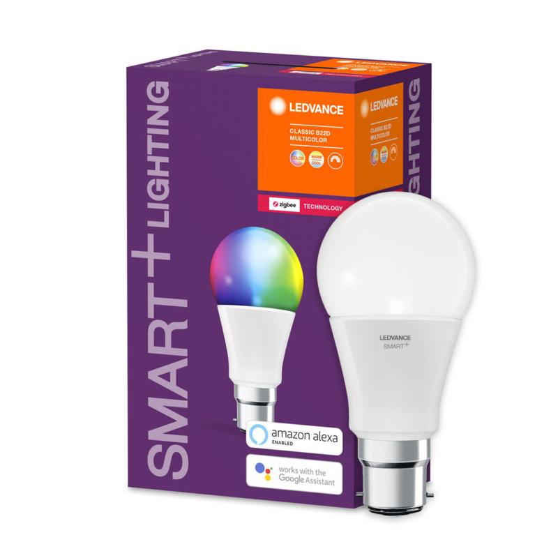 Ledvance Smart+ LED A60 Bulb B22 10W Multicolour RGBW ZigBee - 4058075208407 - Main2