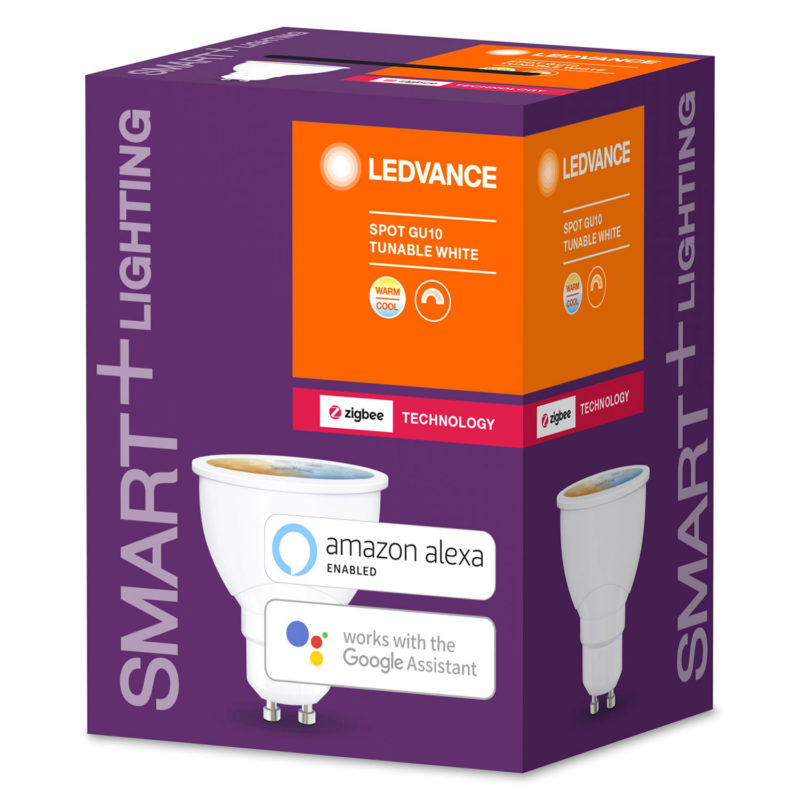 Ledvance Smart+ LED Spot Bulb GU10 4.5W Tunable White ZigBee - 4058075208438 - Side