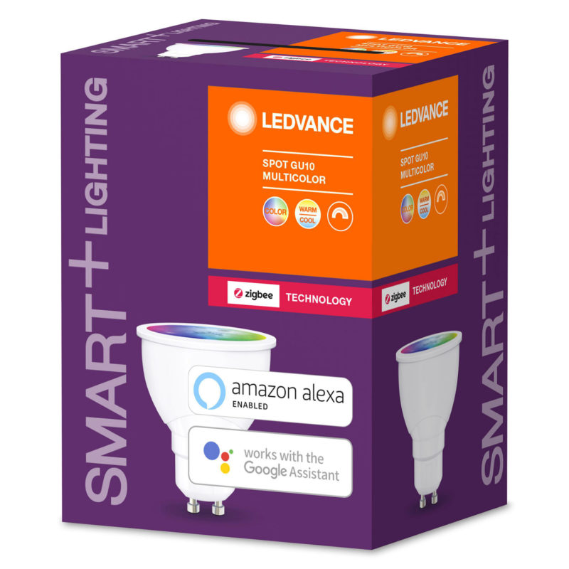 Ledvance Smart+ LED Spot Bulb GU10 5.5W Tunable White RGB ZigBee - 4058075208445 - Side