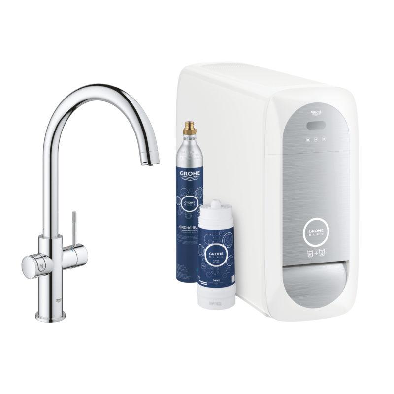 Grohe Blue Home C Spout Chrome Kitchen Mixer Tap Bluetooth - 31455001 - main