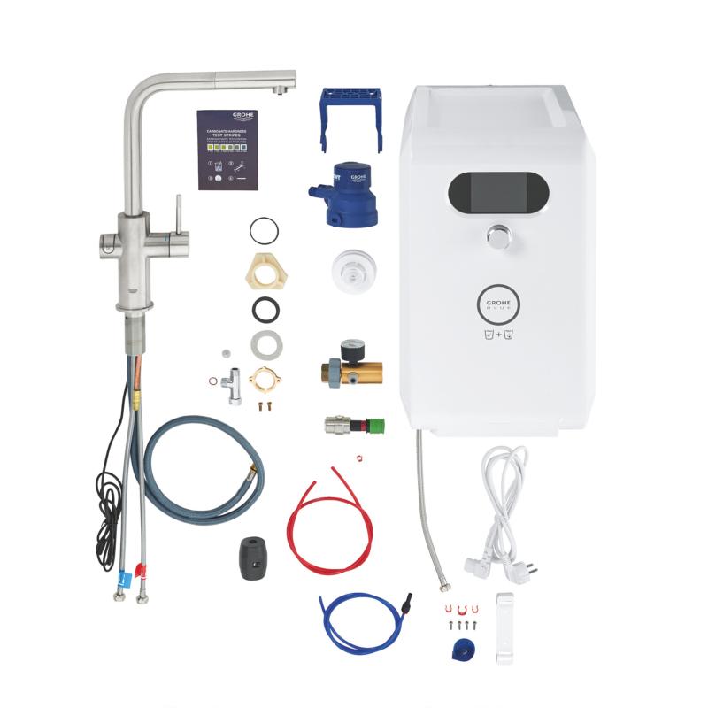 Grohe Blue Professional Single Lever Swivel 150 L Spout Chrome Kitchen Tap - 31326DC2 - Parts