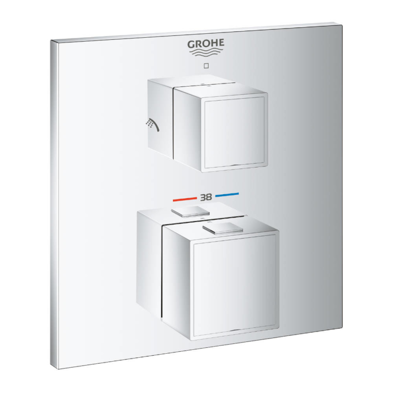 Grohe Grotherm Thermostatic Shower Mixer Two Outlets for Concealed Installation 24154000 - Main