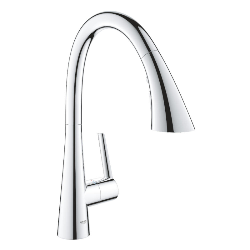 Grohe Zedra with Pull-out Spray Single Lever Swivel C Spout 360 Chrome Kitchen Mixer Tap 32294002- Main