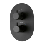 Methven Kaha Thermostatic Mixer One Outlet for Concealed Installation Matte Black KAHA1VBK - Main