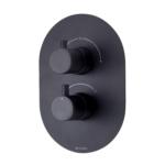 Methven Kaha Thermostatic Mixer Two Outlet for Concealed Installation Matte Black-KAHA_2VDIVBK-Main