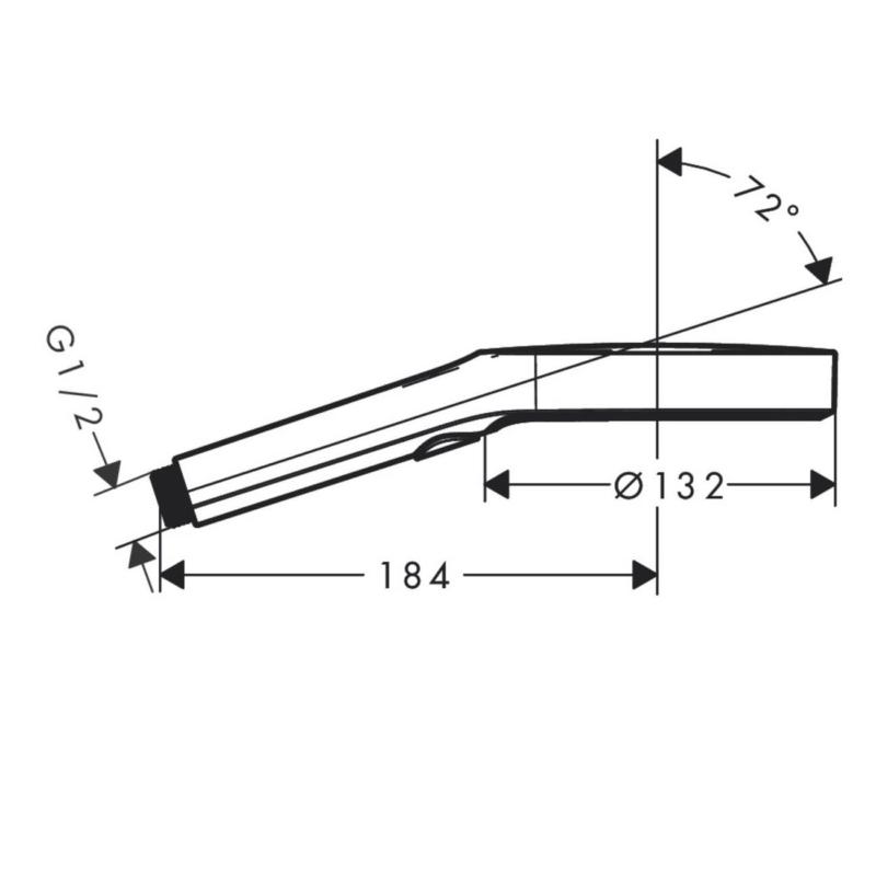 hansgrohe Rainfinity 3jet EcoSmart-26865000-Dimensions.jpg