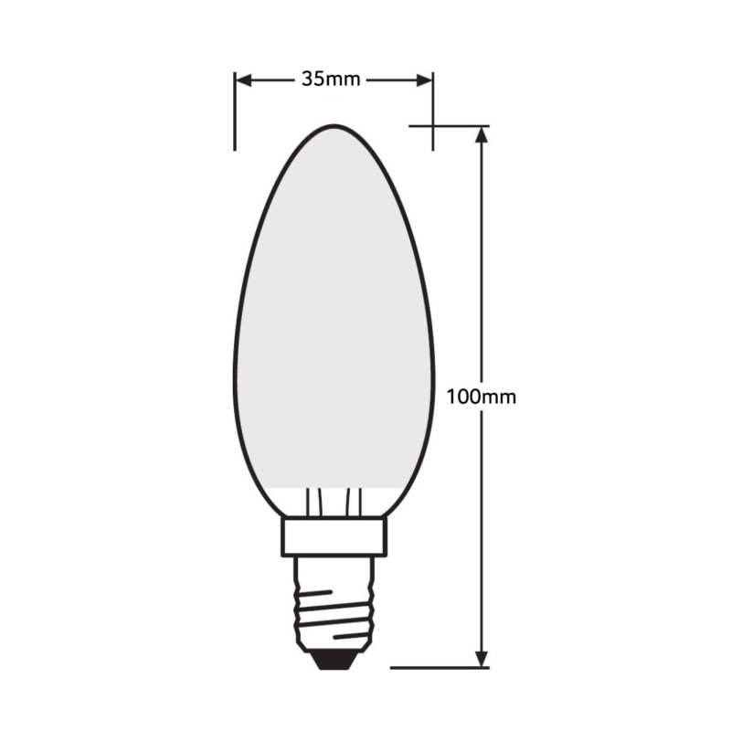 Ledvance-Candle-E14-4058075-287662-434189-437005-438576-Dimensions