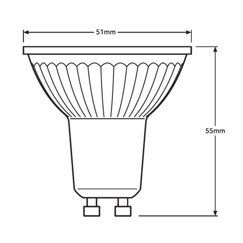 Ledvance-GU10-4058075-259911-259959-Dimensions