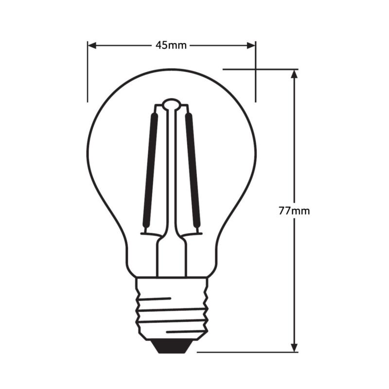 Ledvance Parathom LED Filament Golfball-4058075287945-Dimensions