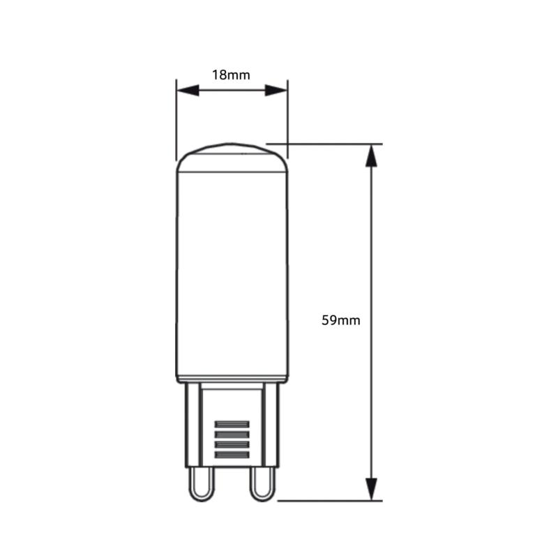Philips-CorePro-LED-Capsule-Bulb-G9-929002390002-Dimensions