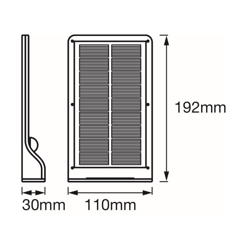 Ledvance DoorLED Silver Solar 4058075267862 dimensions