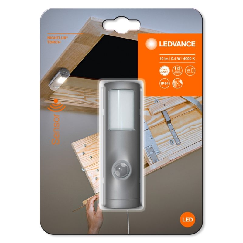 NIGHTLUX Torch Silver 4058075260719 packaging
