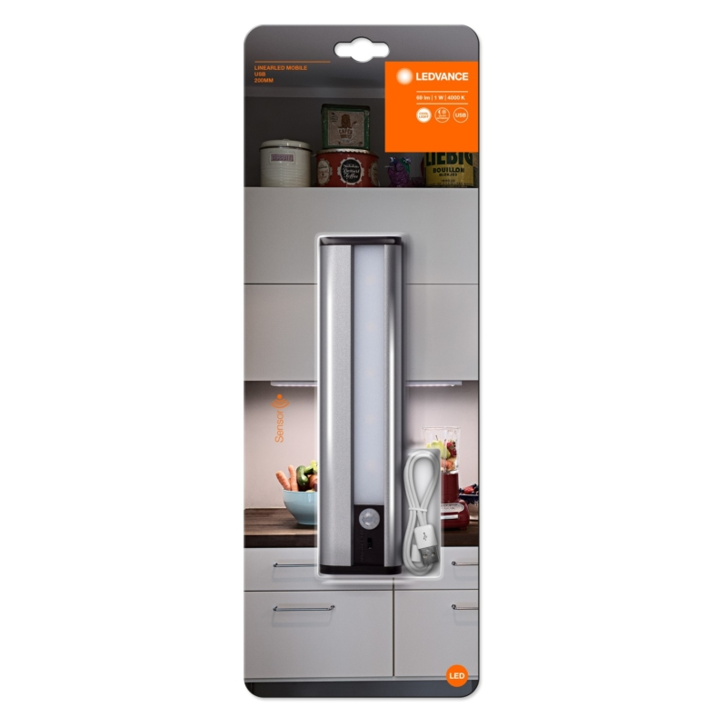 USB Battery Powered 200mm LED Bar White 4058075260436 packaging