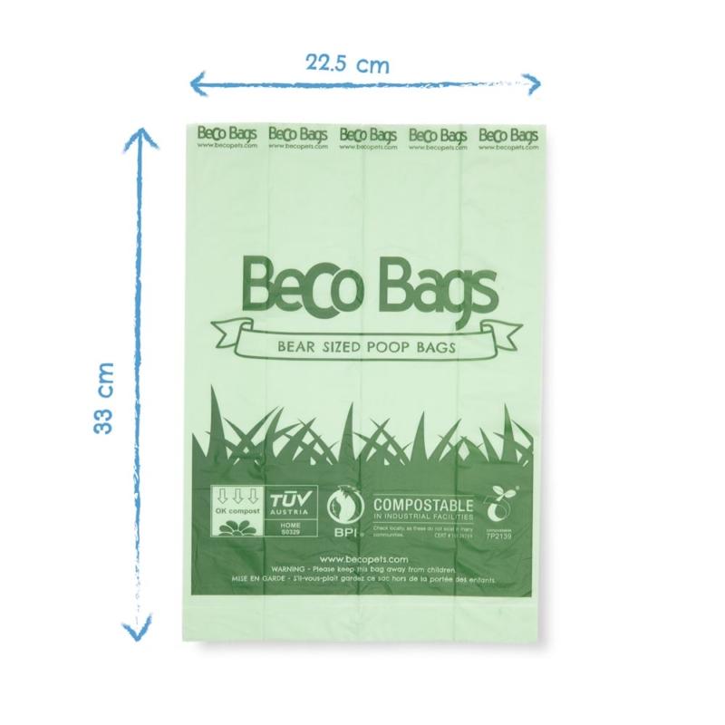 Beco Pets Poop Bags BBGC-60 Dimension