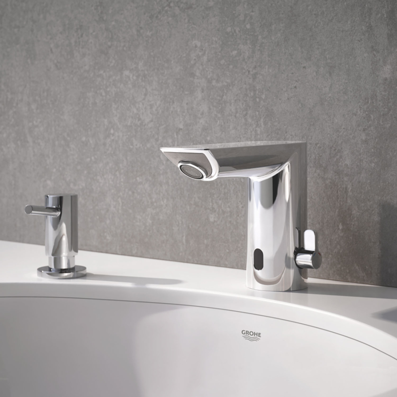 Grohe Bau Cosmopolitan E Electronic Battery Powered Temperature Control Sensor Tap 36451000 lifestyle 7