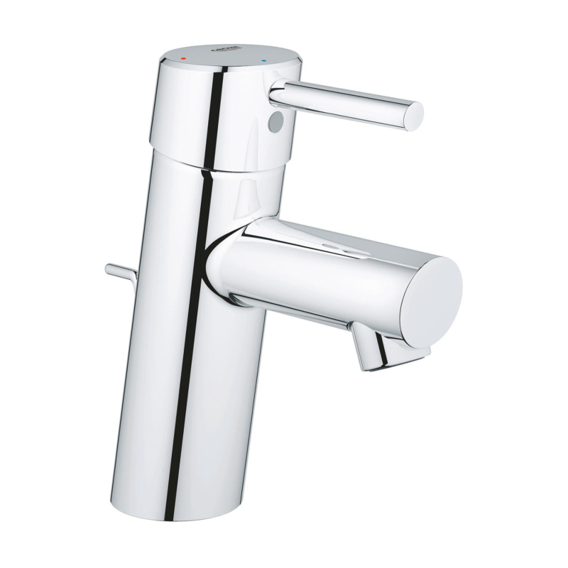 Grohe Concetto Single Lever S-Size Basin Mixer Tap Chrome with Pop-Up Waste Set 2338010E main