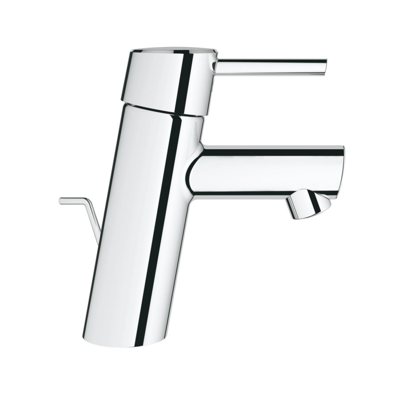 Grohe Concetto Single Lever S-Size Basin Mixer Tap Chrome with Pop-Up Waste Set 2338010E side
