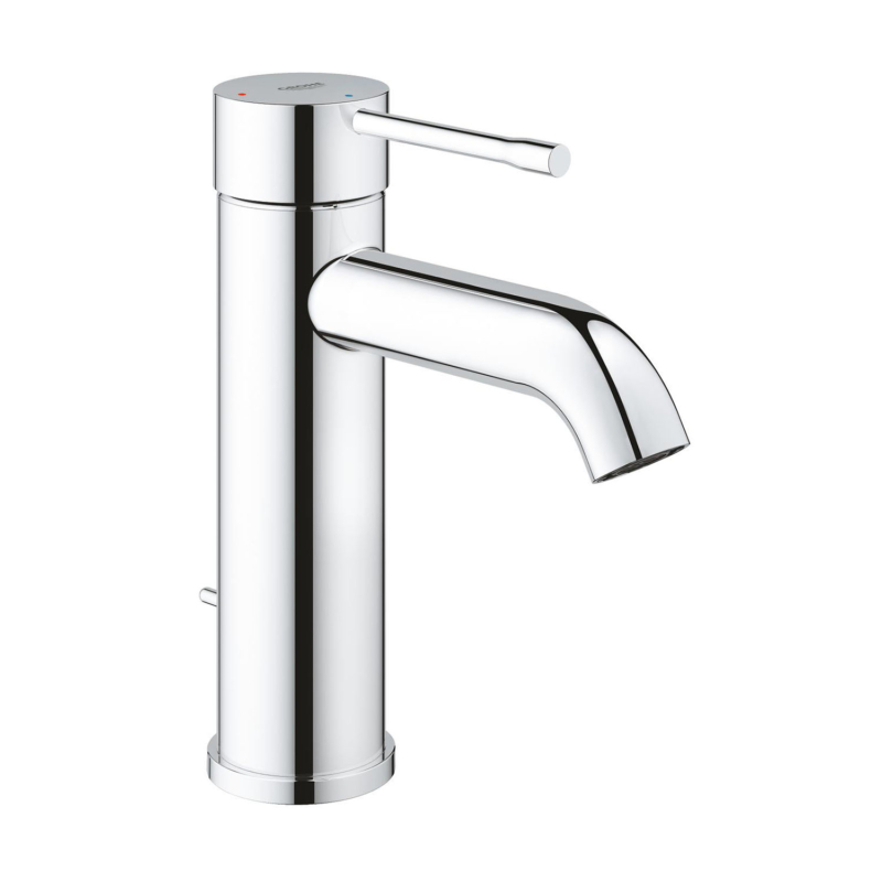 Grohe Concetto Single Lever S-Size Basin Mixer Tap Chrome with Pop-Up Waste Set 233Grohe Essence Single Lever S-Size Basin Mixer Tap Chrome with Pop-Up Waste 23591001 main8010E dimensions
