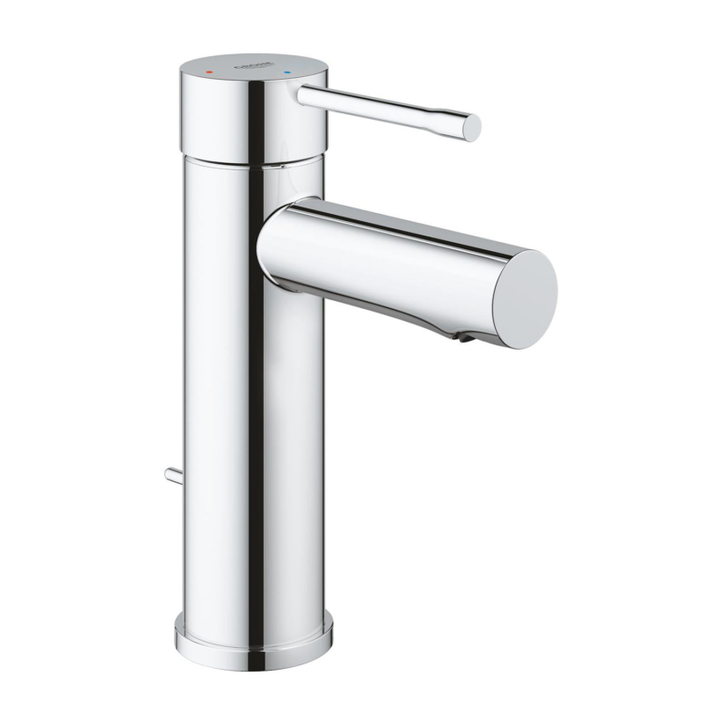Grohe Essence Single Lever S-Size Basin Mixer Tap Chrome with Pop-Up Waste Set 23379001 main