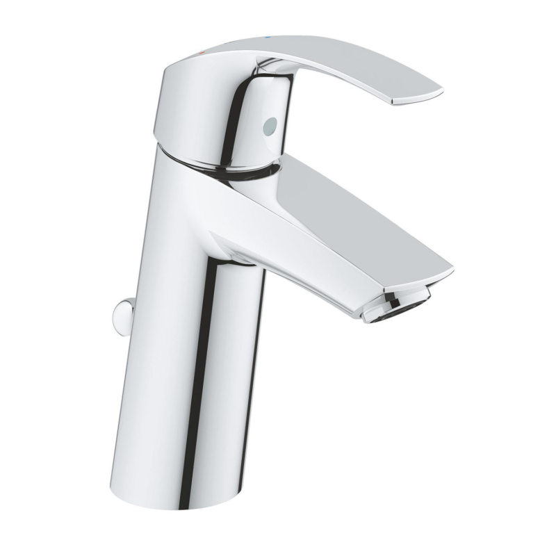 Grohe Eurosmart Single Lever M-Size Basin Mixer Tap Chrome with Pop-Up Waste Set 2339310E main