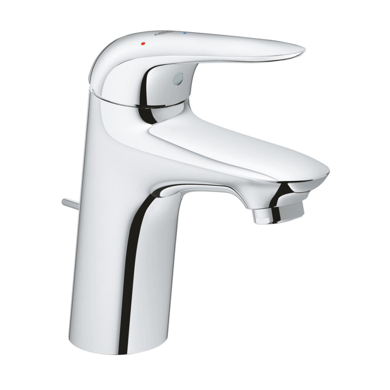 Grohe Eurostyle Single Lever S-Size Basin Mixer Tap Chrome with Pop-Up Waste Set 23709003 main