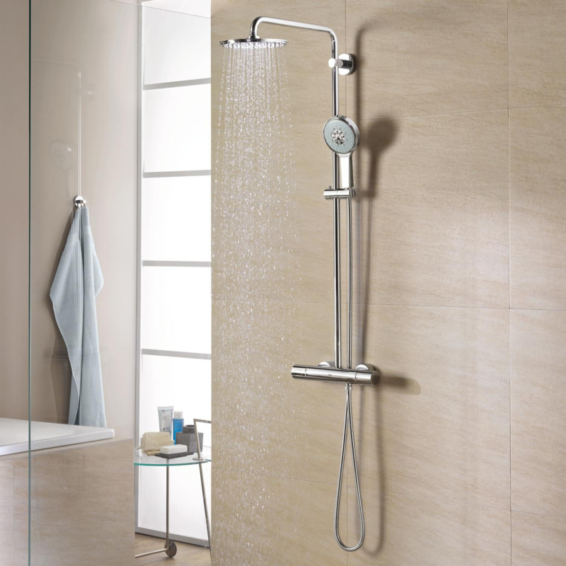 Grohe Rainshower System 210 Shower System with Thermostatic Mixer Chrome 27032001 lifestyle 1