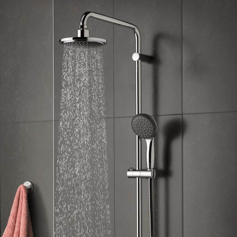 Grohe Vitalio Start 160 Shower System with Thermostatic Mixer Chrome 27960000 lifestyle