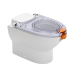 Propelair WC Mk2 - Clear Lid - Orange Latch - Close to Flush - 100-009 - main angle right