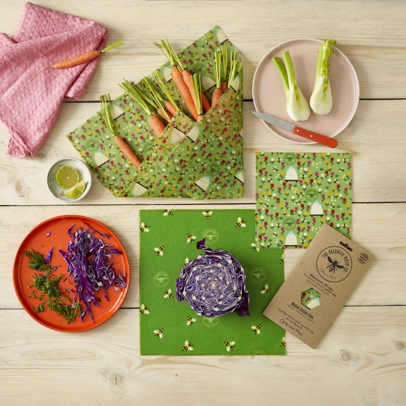 The Beeswax Wrap Kitchen Pack BEE-MKP-LAN Lifestyle2