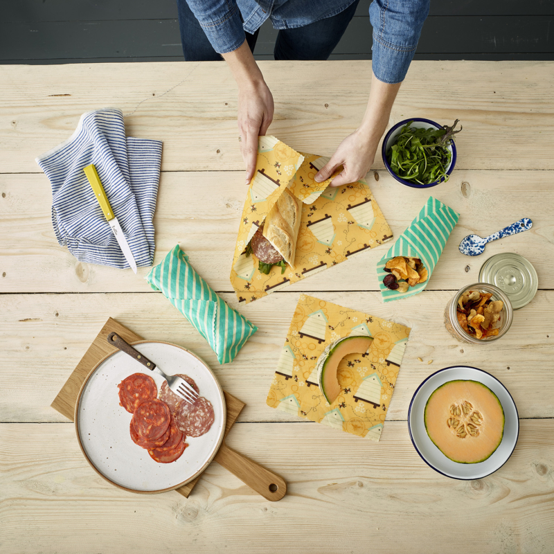 The Beeswax Wrap Lunch Pack BEE-LUN-BEE Lifestyle