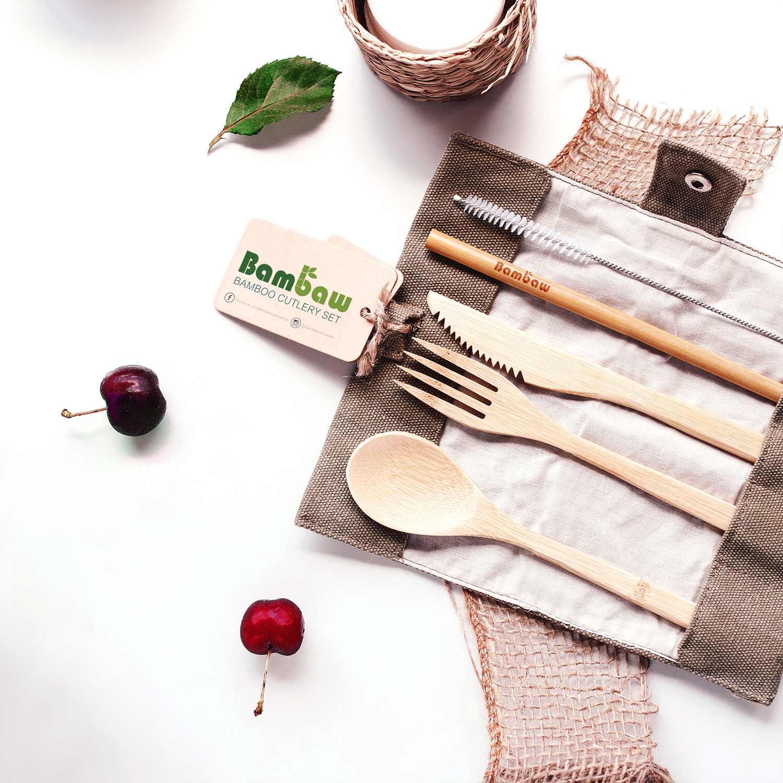 Bambaw Bamboo Cutlery Set 2