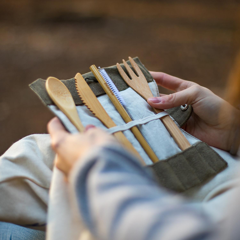 Bambaw Bamboo Cutlery Set 3