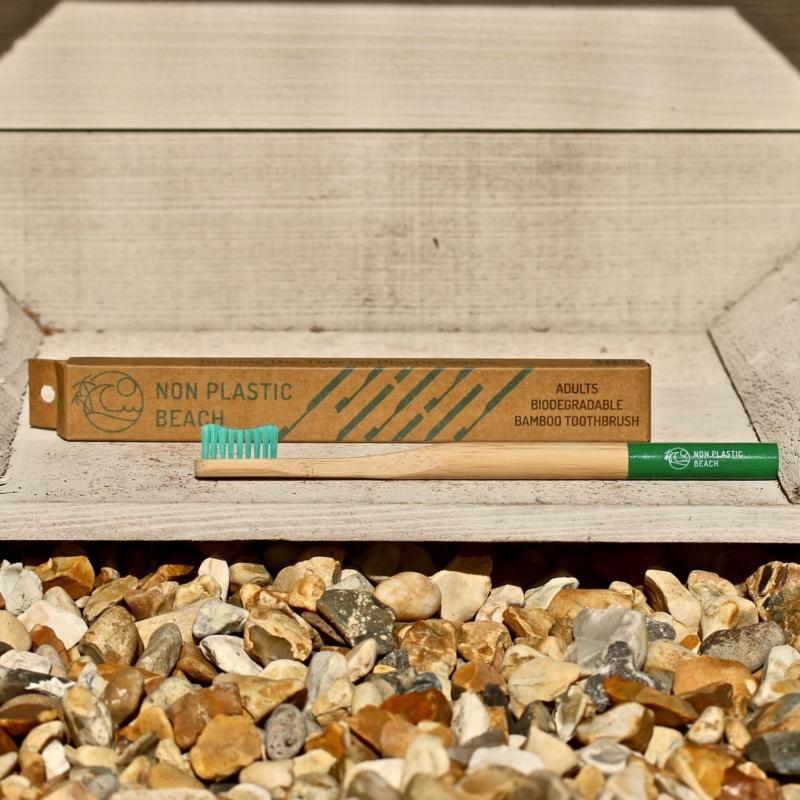 Non Plastic Beach Bamboo Adult Toothbrush Green_Main