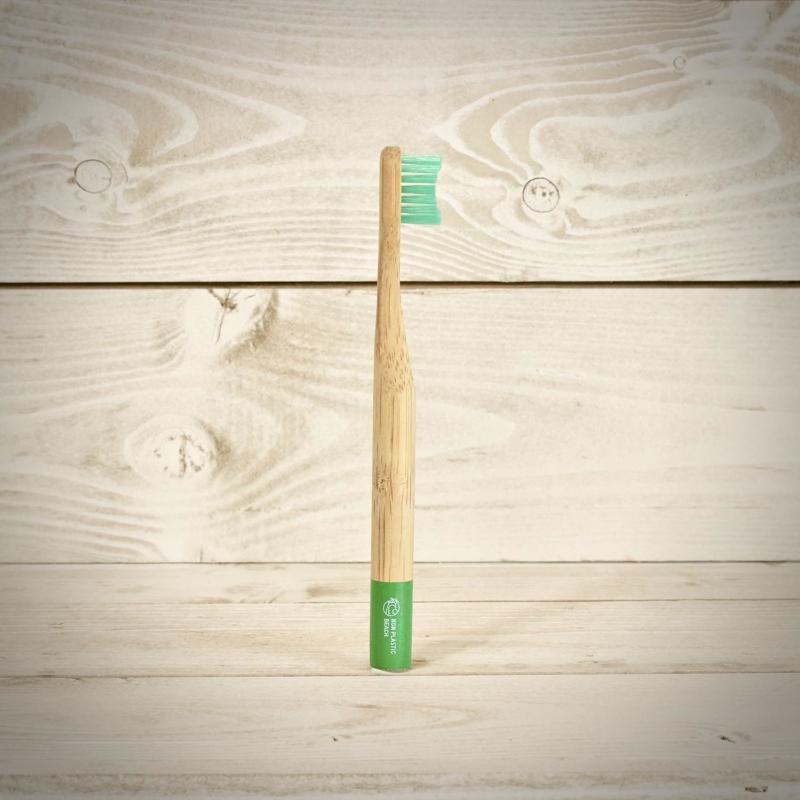 Non Plastic Beach Bamboo Kids Toothbrush Green_Main