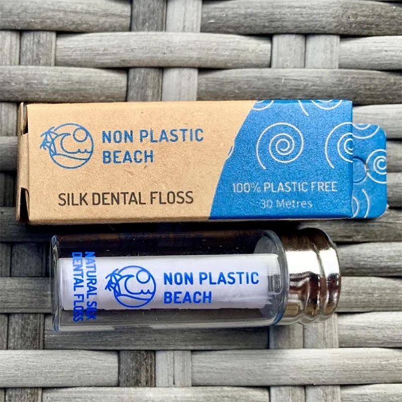 Non Plastic Beach Dental Floss with Glass Container_2