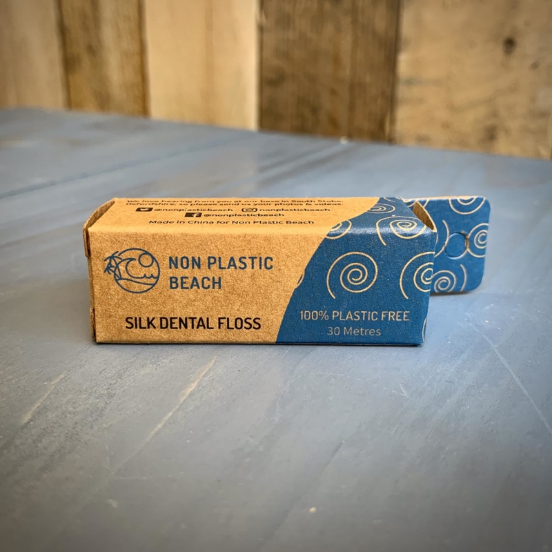 Non Plastic Beach Dental Floss with Glass Container_Main