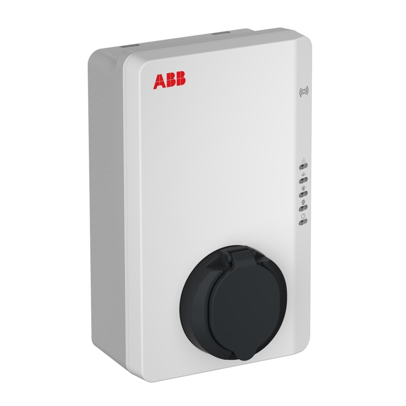 ABB6AGC082153 ABB Terra AC wallbox 22kW : 32 Amp Type 2 Three Phase EV Charger with RFID and 4G Connectivity_Main